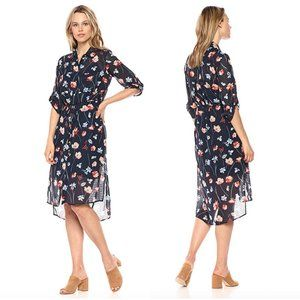 Jones New York Printed Floral Shirtdress Size 10